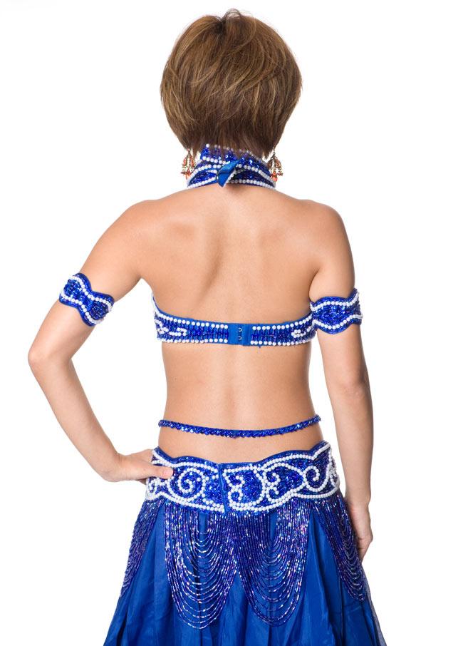 ベリーダンス衣装 ブラ&ベルトセット 3 - 後ろからの写真です