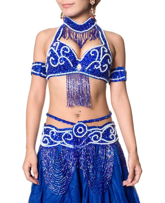 ベリーダンス衣装 ブラ&ベルトセット 4 - 前からの写真です