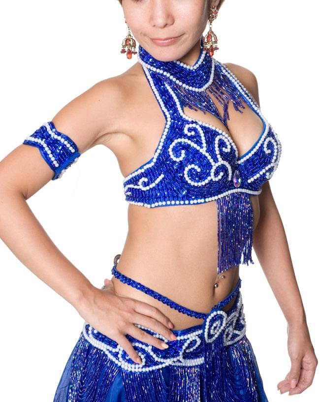 ベリーダンス衣装 ブラ&ベルトセット 5 - 横からの写真です