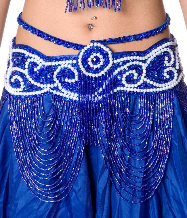 ベリーダンス衣装 ブラ&ベルトセット 7 - ベルト部分の写真です