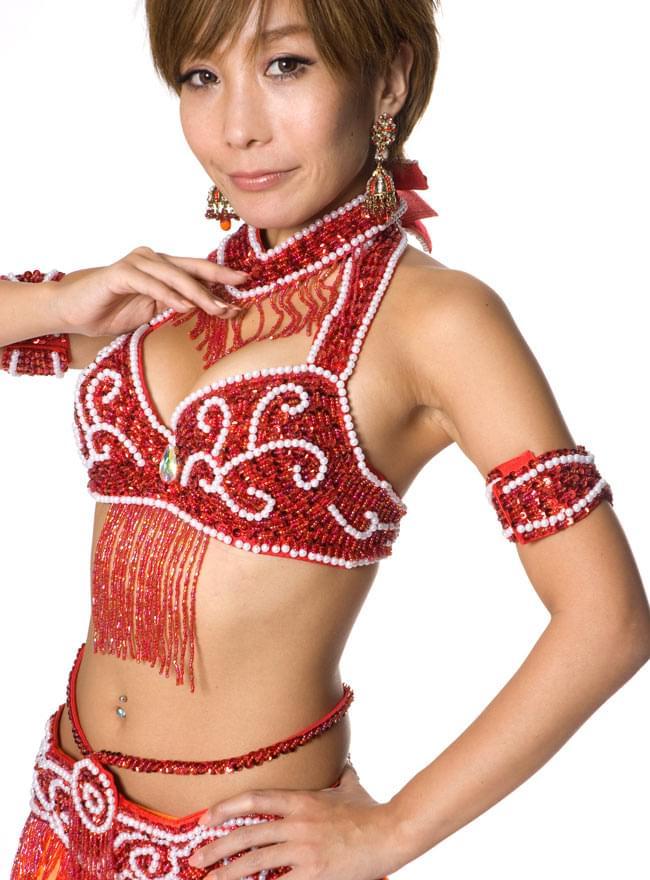 ベリーダンス衣装 ブラ&ベルトセット 8 - 【レッド】の色はこちらになります。