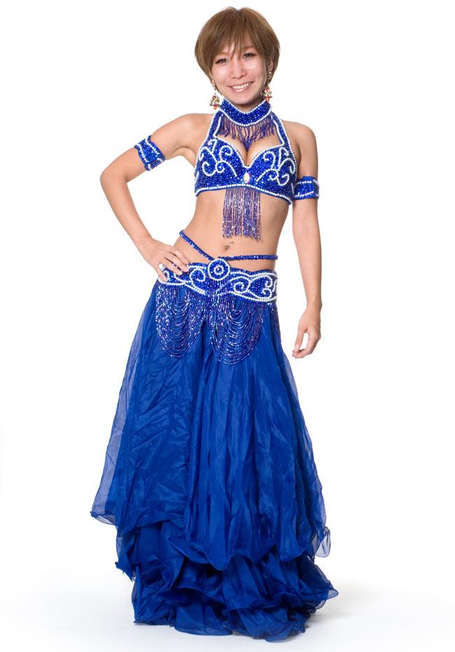 ベリーダンス衣装 ブラ&ベルトセットの写真