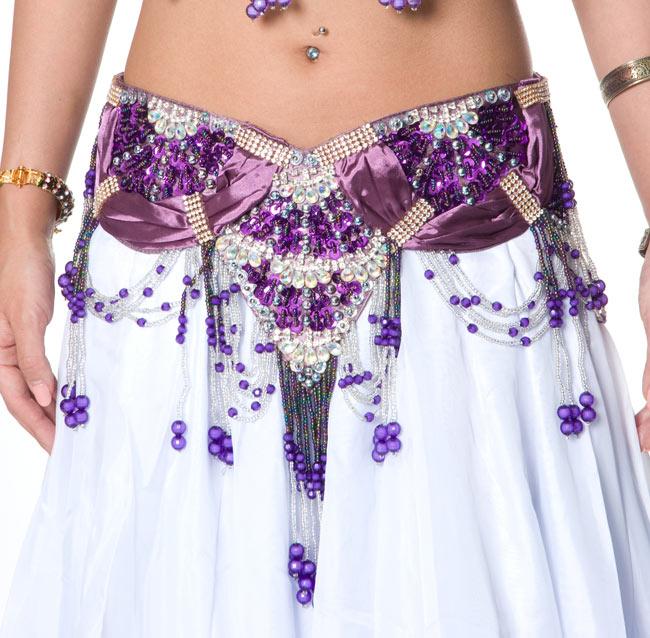ベリーダンス衣装 ブラ&ベルトセットの写真6 -