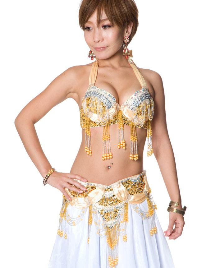 ベリーダンス衣装 ブラ&ベルトセットの写真8 -