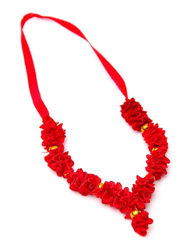 インドの造花ミニ 赤の写真