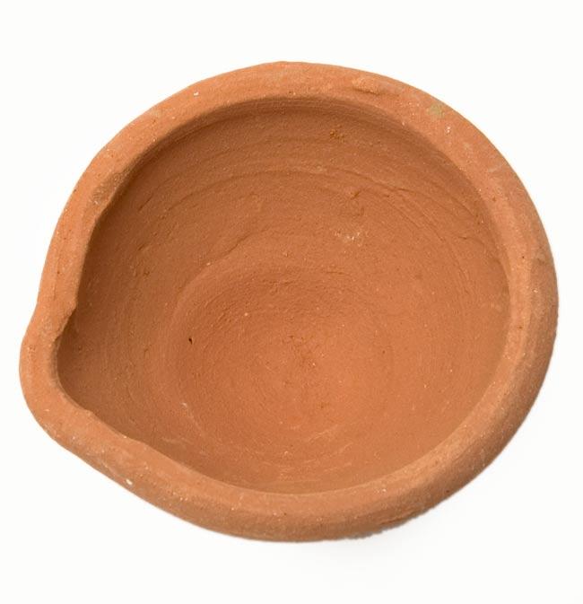 素焼き小皿6個セット 2 - 一つの拡大です。
