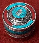 【高品質】チベタンピルケース【直径;約5.8cm】