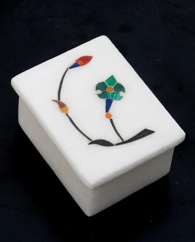 【角型】マーブルストーンの小物入れ[約5.5cm]の写真