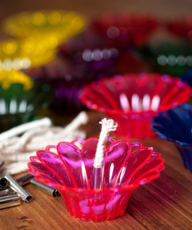 【12個入り】光の華咲く フローティングオイルランプ - マリーゴールド〔2.5cm×6.8cm〕 2 - 全6色、1色2個づつで計12個セット!