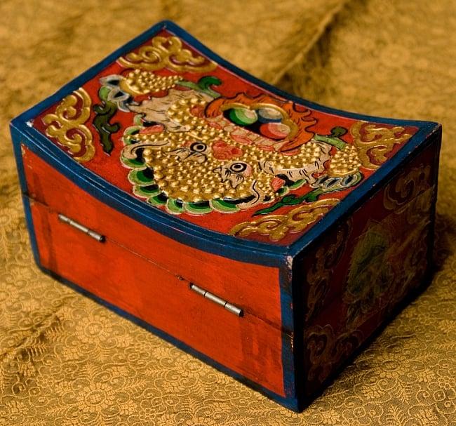 チベットの伝統小物入れ - 龍(凹型) 7 - 裏面部分です。