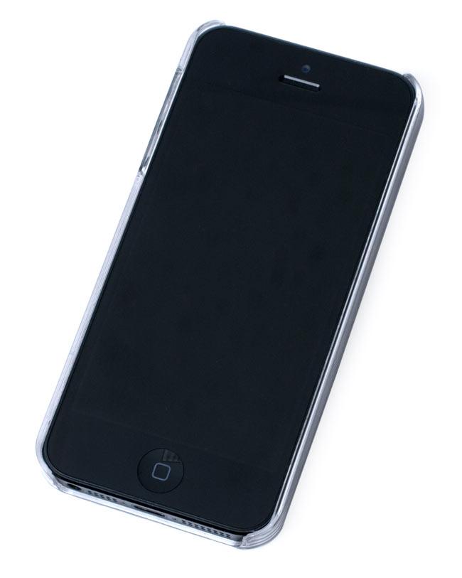 ウッドブロックデザイン【ティラキタオリジナルiPhone5/5s/SEケース】の写真6 - 実際に付けてみた状態です