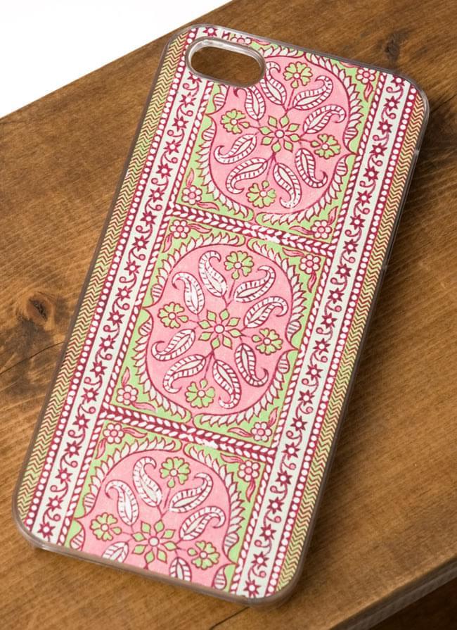 インドのテキスタイルデザイン【ティラキタオリジナルiPhone5ケース】の写真2 - 実際のケースになります
