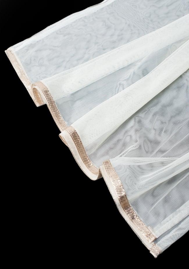 サフェードのパンジャビドレス 3点セット 白×ピンク 11 - 透け感のあるレースのショールです。