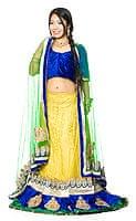 【1点物】インドのレヘンガ 【黄色×青】