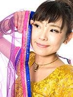【1点物】インドのレヘンガ 【黄色×ピンク】