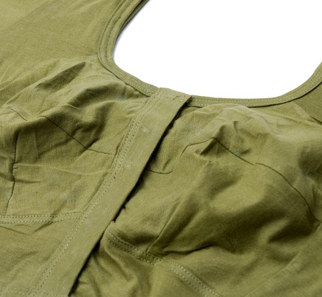 前開きコットンストレッチチョリ -うぐいす 2 - 胸の部分が立体的な作りになっているので、とても綺麗に着ることができます。