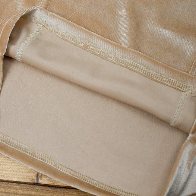 ベルベットのストレッチチョリ - ヌードベージュ 3 - 裏生地はこのような感じでツルッとしているので、とても着やすいです。