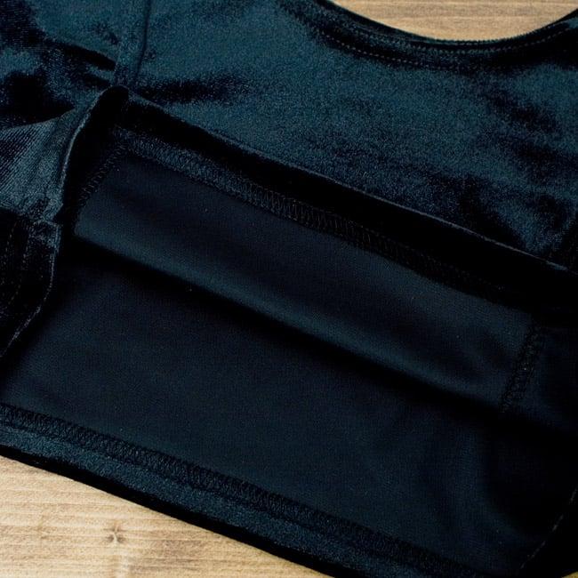 ベルベットのストレッチチョリ - ブラック 3 - 裏生地はこのような感じでツルッとしているので、とても着やすいです。