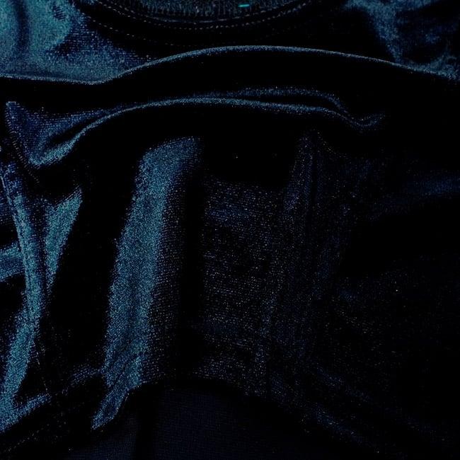 ベルベットのストレッチチョリ - ブラック 4 - ベルベット素材なので、光のあたり方によって光沢の変化があり美しいです。