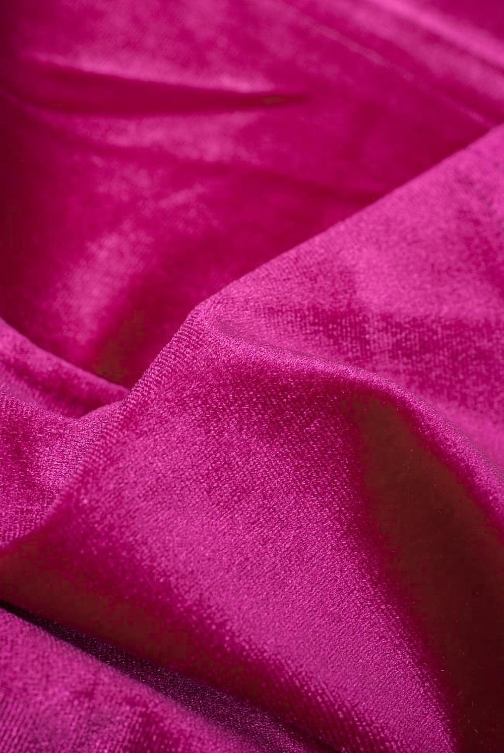 ベルベットのストレッチチョリ - ピンク 4 - ベルベット素材なので、光のあたり方によって光沢の変化があり美しいです。