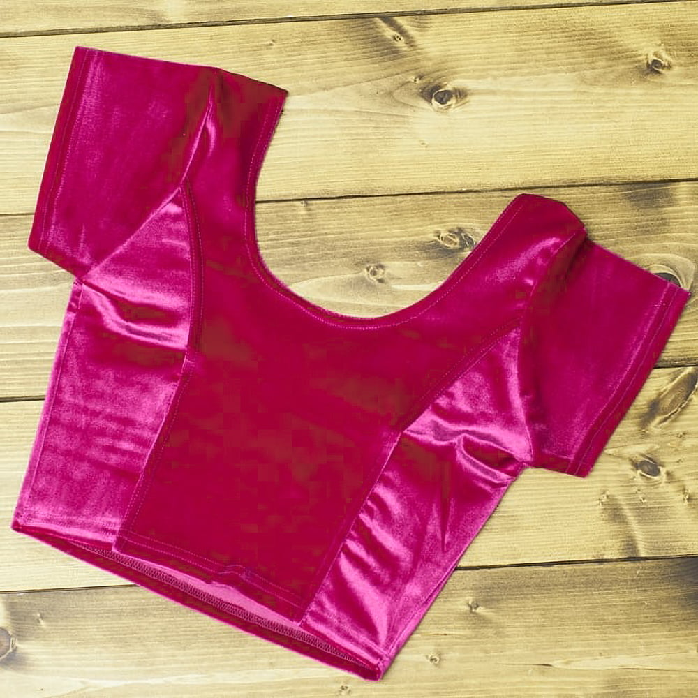 ベルベットのストレッチチョリ - ピンクの写真