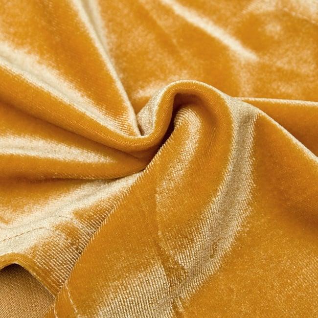 ベルベットのストレッチチョリ - ダークオレンジ 4 - ベルベット素材なので、光のあたり方によって光沢の変化があり美しいです。