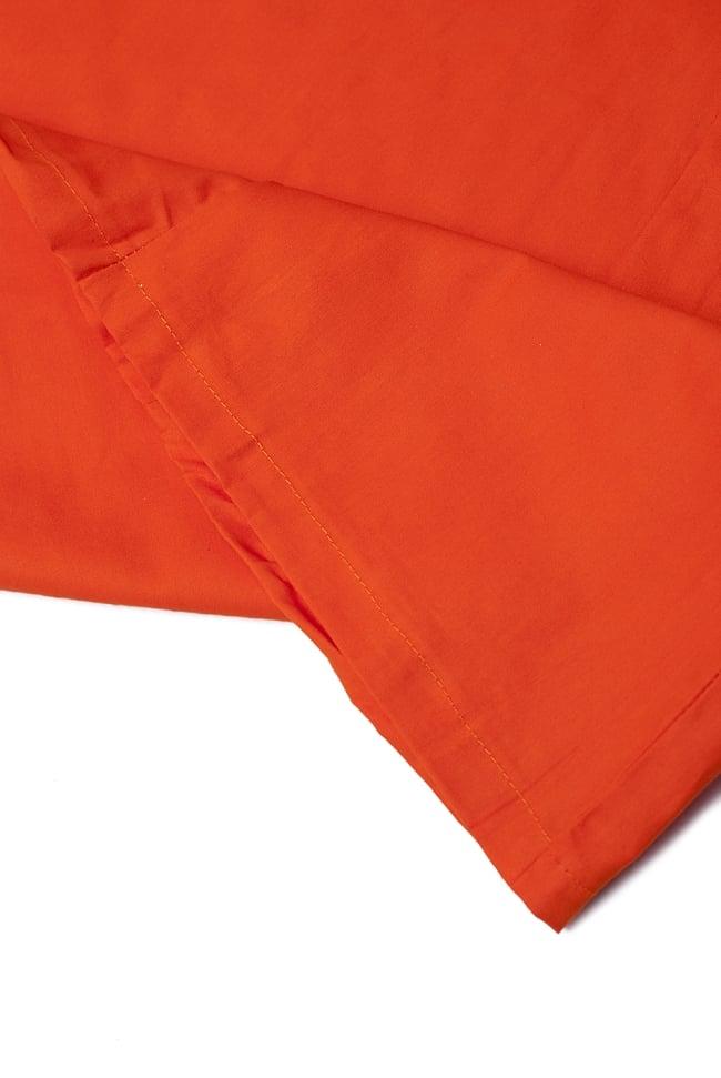 サリーの下に着るペチコート オレンジ 2 - 裾はこんな感じです