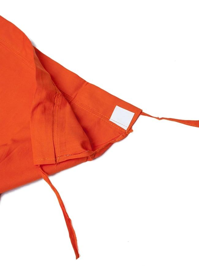 サリーの下に着るペチコート オレンジ 4 - ウエストは紐で絞るタイプになります。
