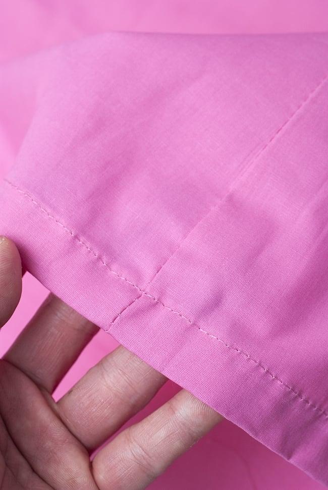 サリーの下に着るペチコー トライトピンクの写真3 - 透け感のない生地なので安心ですね。
