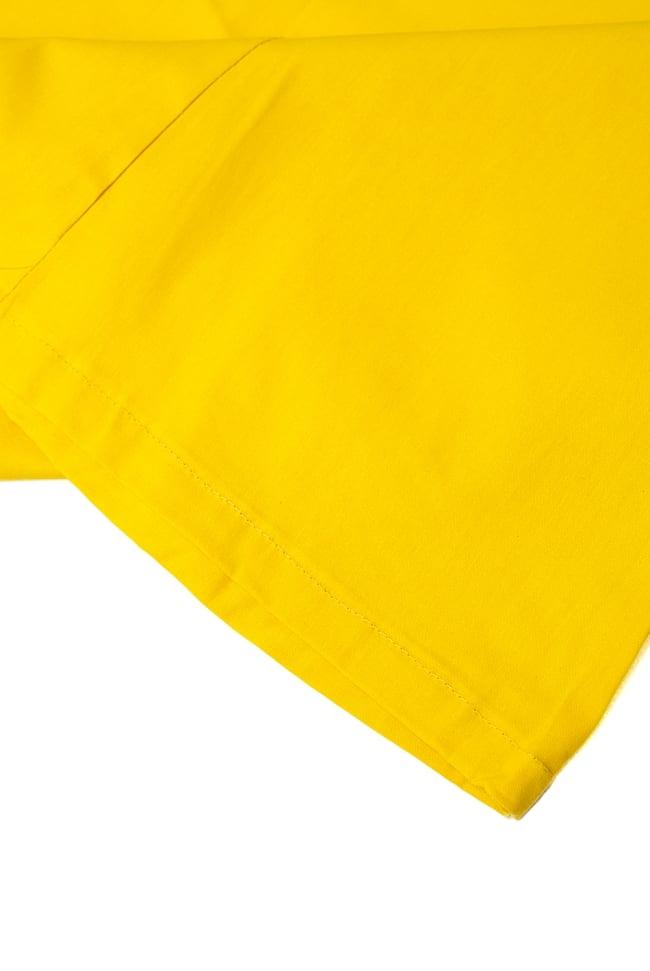 サリーの下に着るペチコート イエロー 2 - 裾はこんな感じです