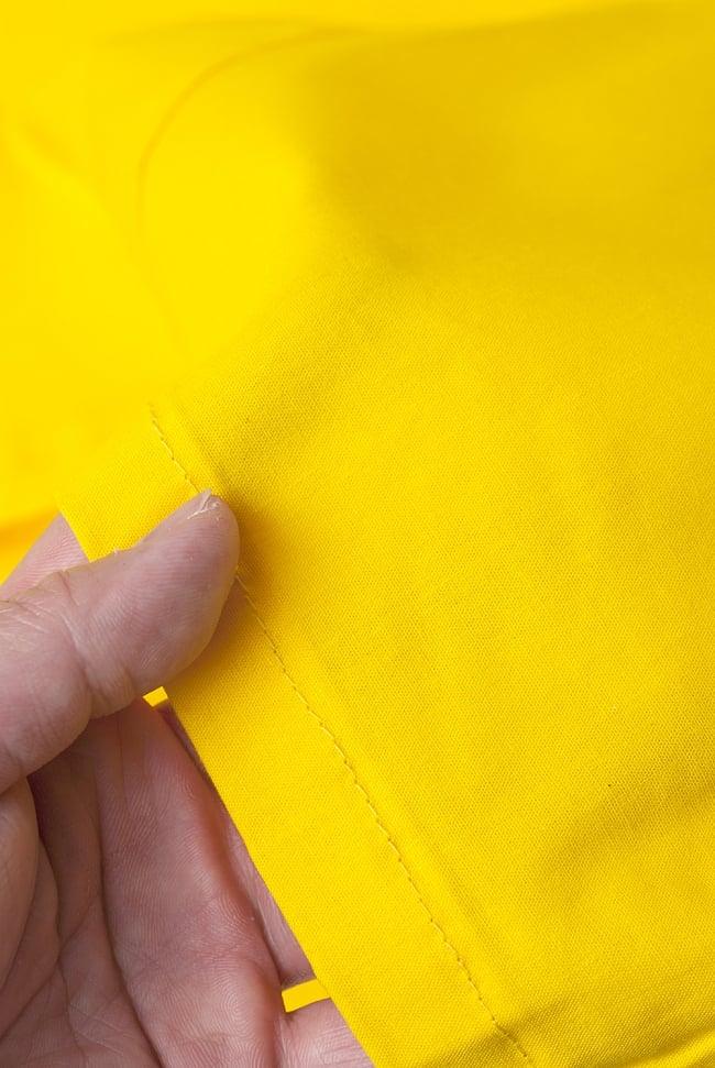 サリーの下に着るペチコート イエロー 3 - 透け感のない生地なので安心ですね。