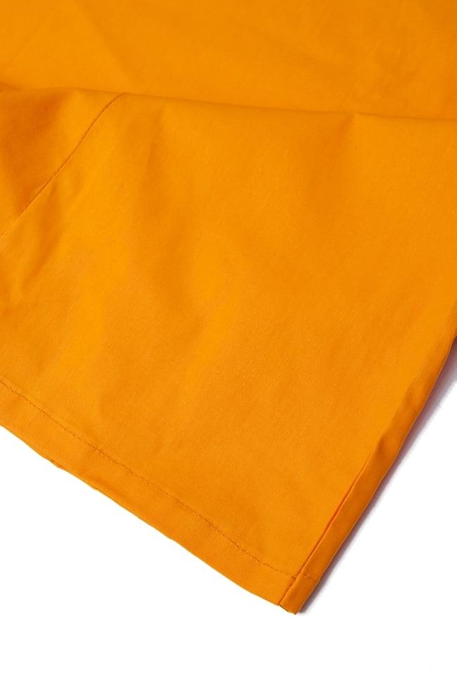 サリーの下に着るペチコート みかん 2 - 裾はこんな感じです