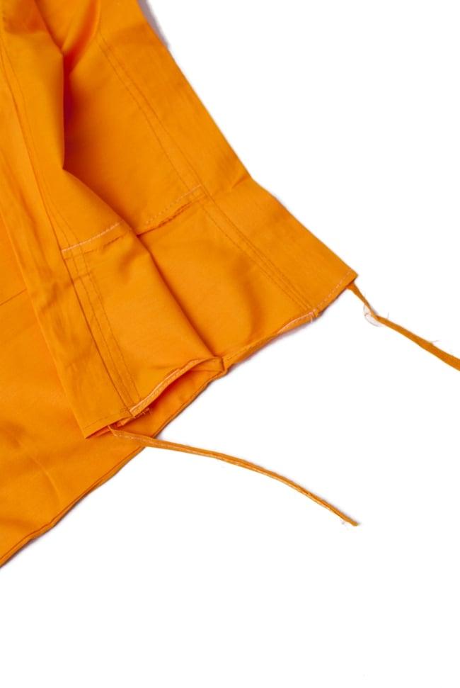 サリーの下に着るペチコート みかん 4 - ウエストは紐で絞るタイプになります。