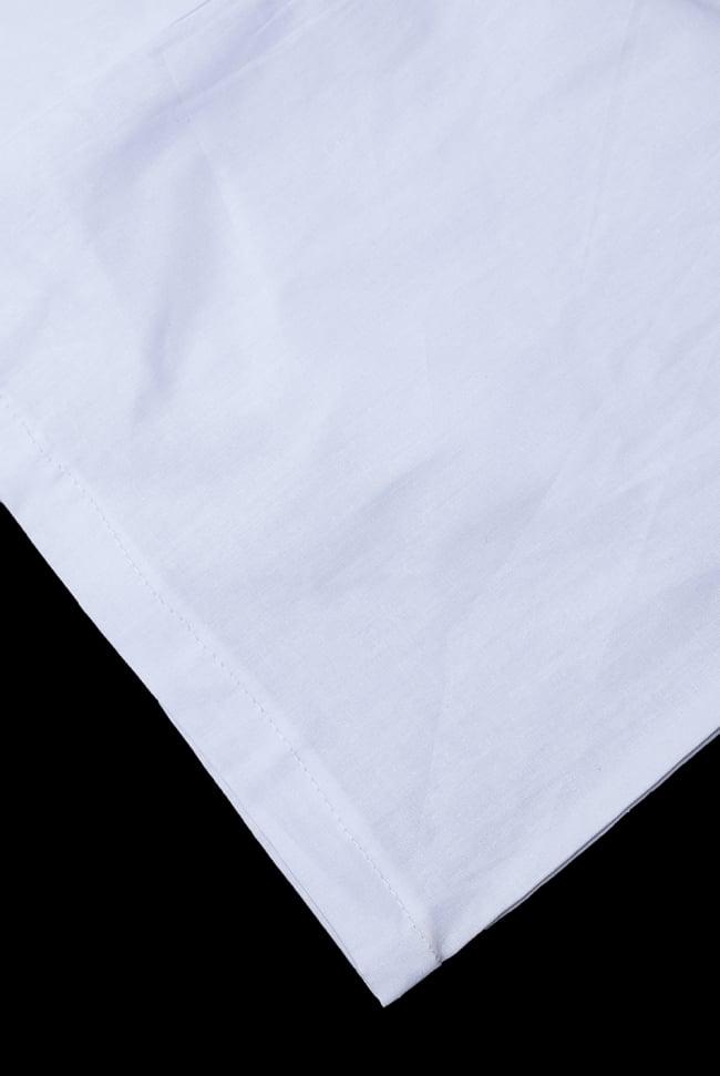 サリーの下に着るペチコート ホワイト 2 - 裾はこんな感じです