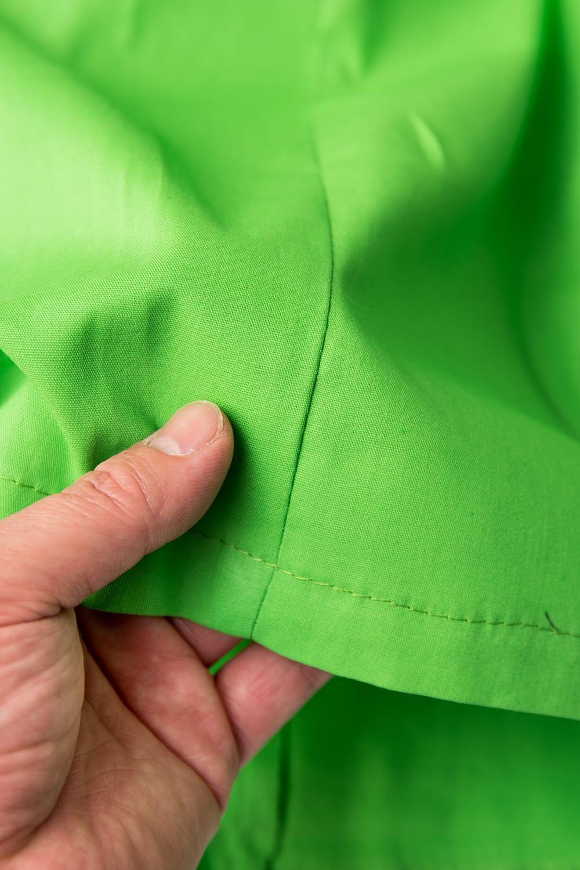 サリーの下に着るペチコート - ライトグリーン 3 - 透け感のない生地なので安心ですね。