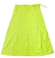 サリーの下に着るペチコート - 黄緑