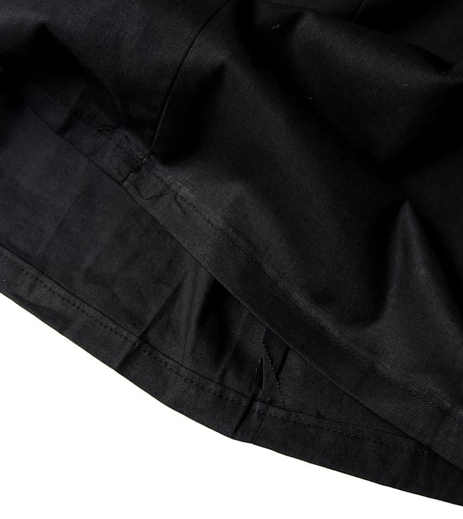 サリーの下に着るペチコート - ブラック 2 - 裾はこんな感じです