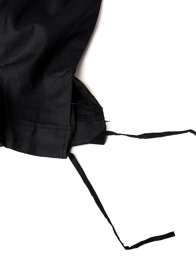サリーの下に着るペチコート - ブラック 4 - ウエストは紐で絞るタイプになります。