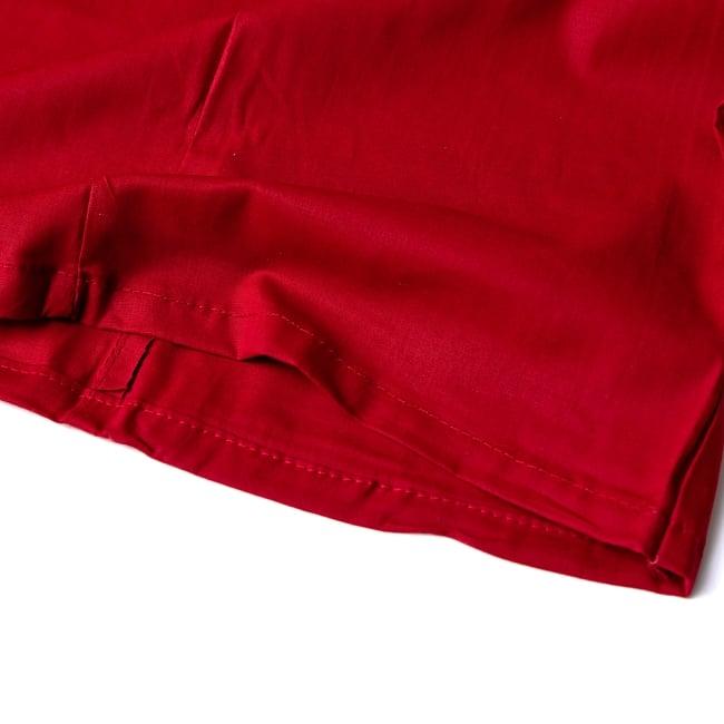 サリーの下に着るペチコート - 濃赤 2 - 裾はこんな感じです
