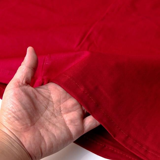 サリーの下に着るペチコート - 濃赤 3 - 透け感のない生地なので安心ですね。