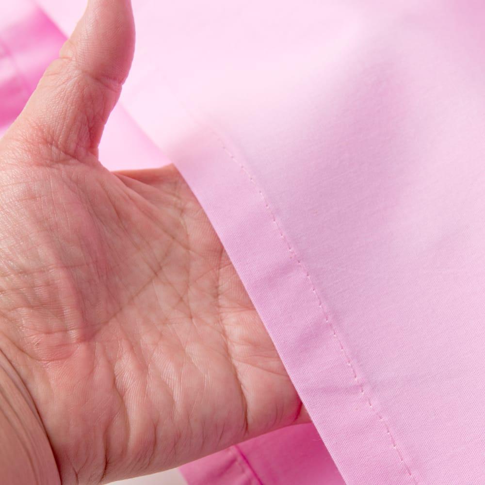 サリーの下に着るペチコート - ベビーピンク 3 - 透け感のない生地なので安心ですね。