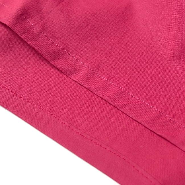 サリーの下に着るペチコート - 濃桃 2 - 裾はこんな感じです