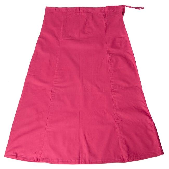 サリーの下に着るペチコート - 濃桃の写真