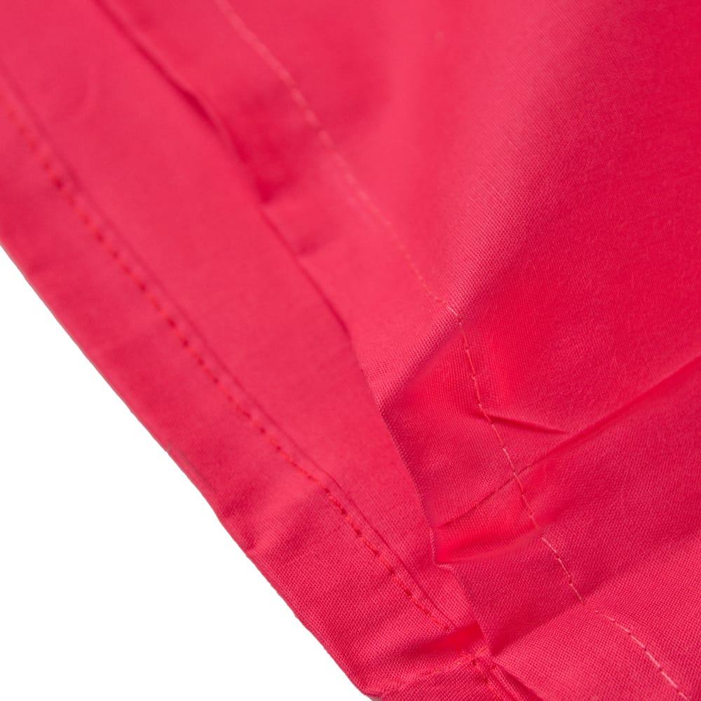 サリーの下に着るペチコート - 濃サーモン 2 - 裾はこんな感じです