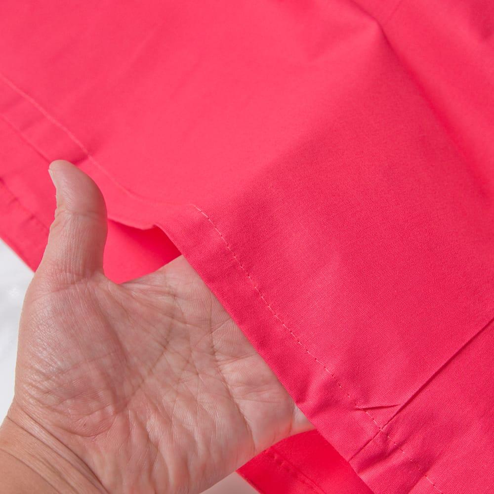 サリーの下に着るペチコート - 濃サーモン 3 - 透け感のない生地なので安心ですね。