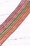 インドとアジアの布のセール品:[セール品]インドの伝統柄チロリアンテープ - 9mロール売り【9m×約6cm】
