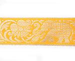 蓮とゾウのチロリアンテープ-メーター売【中幅 約4cm】-11番-黄色