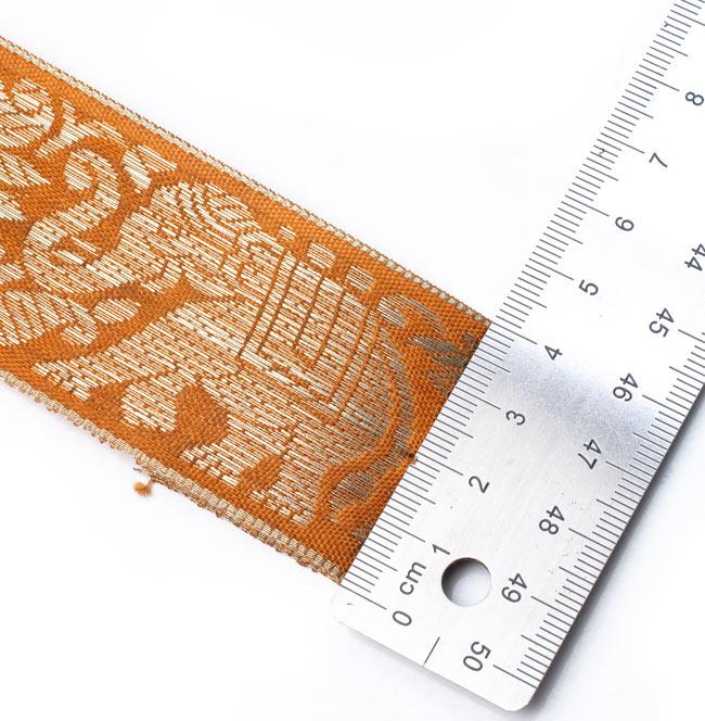 蓮とゾウのチロリアンテープ-メーター売【中幅 約4cm】 9 - 使いやすい4cm幅です