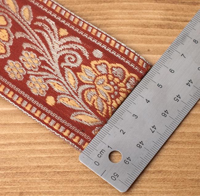 花とつる草のチロリアンテープ−メーター売り【太幅 約5.5cm】 9 - テープ幅はちょっと厚めの5.5cm
