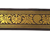【訳ありセール品】ザリの中幅チロリアンテープ-メーター売り【約4cm】-4番-濃茶色